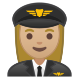 Woman Pilot: Medium-Light Skin Tone on Google Android 10.0 March 2020 Feature Drop