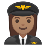 Woman Pilot: Medium Skin Tone on Google Android 10.0 March 2020 Feature Drop