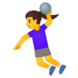 Woman Playing Handball on Google Android 10.0 March 2020 Feature Drop