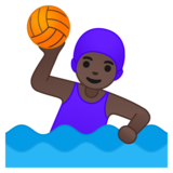 Woman Playing Water Polo: Dark Skin Tone on Google Android 10.0 March 2020 Feature Drop