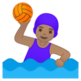 Woman Playing Water Polo: Medium Skin Tone on Google Android 10.0 March 2020 Feature Drop