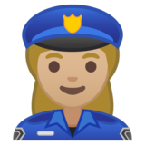 Woman Police Officer: Medium-Light Skin Tone on Google Android 10.0 March 2020 Feature Drop