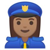 Woman Police Officer: Medium Skin Tone on Google Android 10.0 March 2020 Feature Drop
