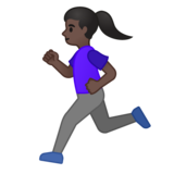Woman Running: Dark Skin Tone on Google Android 10.0 March 2020 Feature Drop