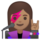 Woman Singer: Medium Skin Tone on Google Android 10.0 March 2020 Feature Drop