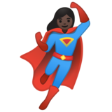 Woman Superhero: Dark Skin Tone on Google Android 10.0 March 2020 Feature Drop