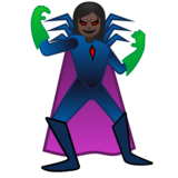 Woman Supervillain: Dark Skin Tone on Google Android 10.0 March 2020 Feature Drop