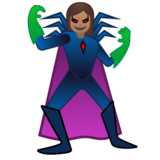 Woman Supervillain: Medium Skin Tone on Google Android 10.0 March 2020 Feature Drop