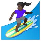 Woman Surfing: Dark Skin Tone on Google Android 10.0 March 2020 Feature Drop