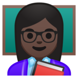 Woman Teacher: Dark Skin Tone on Google Android 10.0 March 2020 Feature Drop