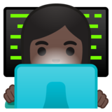 Woman Technologist: Dark Skin Tone on Google Android 10.0 March 2020 Feature Drop