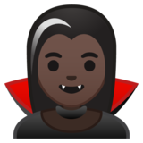 Woman Vampire: Dark Skin Tone on Google Android 10.0 March 2020 Feature Drop