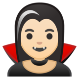 Woman Vampire: Light Skin Tone on Google Android 10.0 March 2020 Feature Drop