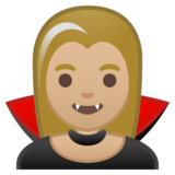Woman Vampire: Medium-Light Skin Tone on Google Android 10.0 March 2020 Feature Drop
