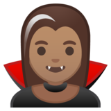 Woman Vampire: Medium Skin Tone on Google Android 10.0 March 2020 Feature Drop