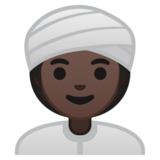Woman Wearing Turban: Dark Skin Tone on Google Android 10.0 March 2020 Feature Drop