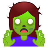 Woman Zombie on Google Android 10.0 March 2020 Feature Drop