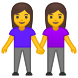 Women Holding Hands on Google Android 10.0 March 2020 Feature Drop