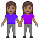 Women Holding Hands: Medium Skin Tone on Google Android 10.0 March 2020 Feature Drop
