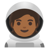 Astronaut: Medium-Dark Skin Tone on Google Android 11.0