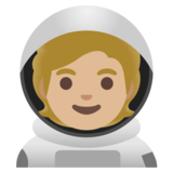 Astronaut: Medium-Light Skin Tone on Google Android 11.0