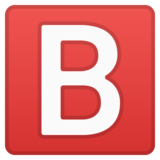 B Button (Blood Type) on Google Android 11.0