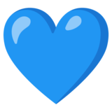 Blue Heart on Google Android 11.0