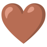 Brown Heart on Google Android 11.0
