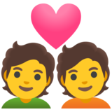Couple with Heart on Google Android 11.0
