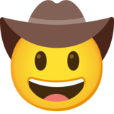 Cowboy Hat Face on Google Android 11.0