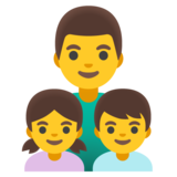 Family: Man, Girl, Boy on Google Android 11.0