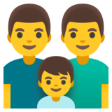 Family: Man, Man, Boy on Google Android 11.0