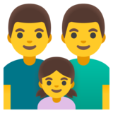 Family: Man, Man, Girl on Google Android 11.0