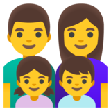 Family: Man, Woman, Girl, Boy on Google Android 11.0