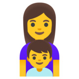 Family: Woman, Boy on Google Android 11.0