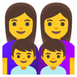Family: Woman, Woman, Boy, Boy on Google Android 11.0