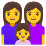Family: Woman, Woman, Girl on Google Android 11.0