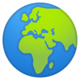 Globe Showing Europe-Africa on Google Android 11.0