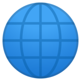Globe with Meridians on Google Android 11.0
