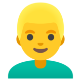 Man: Blond Hair on Google Android 11.0
