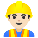 Man Construction Worker: Light Skin Tone on Google Android 11.0