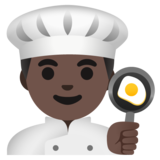 Man Cook: Dark Skin Tone on Google Android 11.0