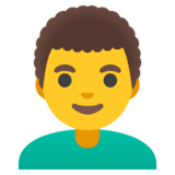 Man: Curly Hair on Google Android 11.0