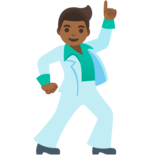 Man Dancing: Medium-Dark Skin Tone on Google Android 11.0