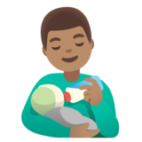 Man Feeding Baby: Medium Skin Tone on Google Android 11.0