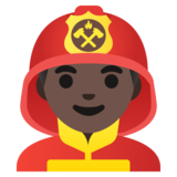 Man Firefighter: Dark Skin Tone on Google Android 11.0
