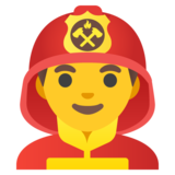 Man Firefighter on Google Android 11.0