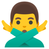 Man Gesturing No on Google Android 11.0
