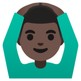 Man Gesturing OK: Dark Skin Tone on Google Android 11.0
