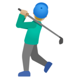 Man Golfing: Medium-Light Skin Tone on Google Android 11.0